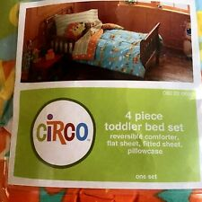 CIRCO 4 Piece Toddler Comforter Set Circus Train - Monkey Elephant Giraffe *NIP*