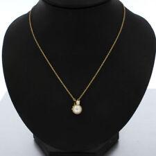 Halsketten und Anhänger mit Diamanten-Brillantschliff Perlen