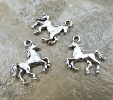 Three (3) Pewter Galloping Horse Charms -  0652