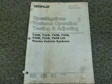 Caterpillar T30B T35B T40B Forklift Testing Adjusting Shop Service Repair Manual