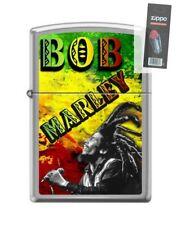 Zippo 1261 Bob Marley Brushed Chrome Full Size Lighter + FLINT PACK