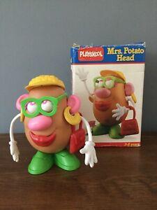 Rare Collectible Vintage Female Mrs Potato Head 1986 Playskool Boxed Bendy Arms
