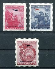 YUGOSLAVIA 1949 AIR MAIL LIBERATION OF MACEDONIA C30-C32 PERFECT MNH
