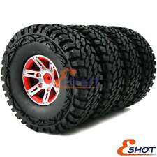 "4pc RC 1.9"" Off-Road Tires 115mm & Metal 1.9 Beadlock Rims Wheels For RC Crawler"