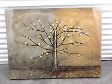 """Contemporary  Harmony Tree Painting High Gloss Brown Bronze on Canvas 36"""" X 48"""""""