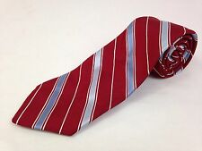 Brooks Brothers Mens Neck Tie 51L Makers Red Blue White Striped 100% Silk USA