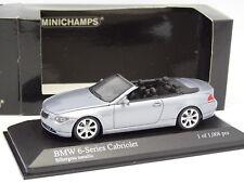 Minichamps 1/43 - BMW Serie 6 Cabriolet Gris Azul Metal