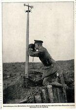 Deutscher Beobachter an einer Wetterfahne ( Gaswolken ) c.1917