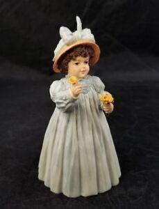 Maud Humphrey Bogart Figurine A Flower For You Girl Blue Dress H5596 COA, Box