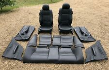 BMW E46 COUPE BLACK LEATHER INTERIOR SEATS AND DOOR CARDS