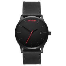 MVMT Watches Black Face with Black Leather Strap Men's Watch Man Watch ORIGINAL