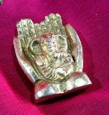 Ganesh Brass Metal Elephant incense stick holder ash catcher Indian ethnic altar