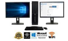"Dell or hp Desktop PC Dual Core  SSD 8GB DUAL 24"" LCD WiFi Windows 10 Pro"