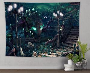 Halloween Monster Tree Spooky Garden Tapestry Wall Hanging Living Room Bedroom