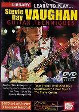 Lick Library- Learn To Play Stevie Ray Vaughan Guitar Techniques- 2 Dvd Set/ New