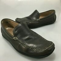 ECCO Mens 9 US 43EU Brown Leather Classic Moc Slip On Loafers Shoes