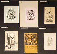 EX42398 EX Libris BELGIAN ARTISTS mixed thematics & techniques fine