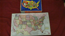 Complete Vintage Parker Brother United States Puzzle Map 1915