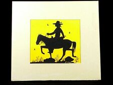 Vintage Silk Screen Print of NAVAJO ON HORSE - Signed By  B. Yazz