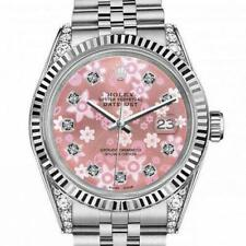 Rolex Oyster Perpetual Datejust Pink Flower Dial with Diamond Numbers 36mm Jubil