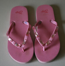Gap Flip Flops GIRLS Youth 1 2 Pink Jewel GUC