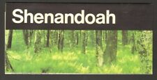 1986 Souvenir Travel Brochure Shenandoah Virginia VA National Park Service