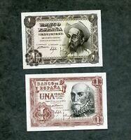 LOTE 2  BILLETES  1 pesetas 1951 Y 1 PESETAS 1953  los 2 de la foto LOS DOS SC