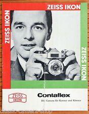 Zeiss Ikon fotocamera prospetto Contaflex Super/Rapid/OTTIMO/Alpha V. 1962 x2970
