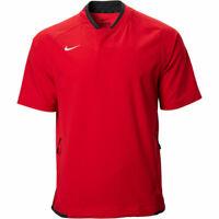 Nike Men's Short Sleeve Baseball Jacket -  Windbreaker, Red, Size S, NwT