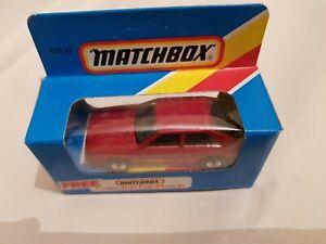 MATCHBOX SUPERFAST NEW IN BOX AUDI QUATTRO RED MB-25 MB 25 1981 CAR