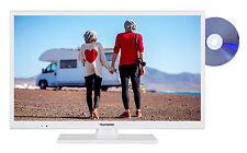 Telefunken XH24D401VD-W Smart TV mit DVD-Player 24 Zoll HD-TV Triple-Tuner 12V