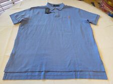 Polo Ralph Lauren Mens short sleeve shirt XXL Hr IS Blue w/ orange logo 735047