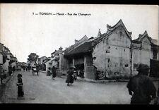 HANOI (INDOCHINE / TONKIN) Rue des CHANGEURS animée début 1900