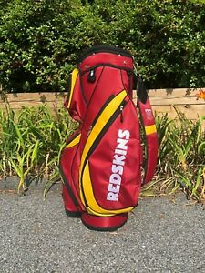 Redskins NFL Wilson Golf Bag w/Rain Hood14 Dividers  Cart Style pre-owned