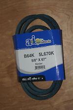 """Kevlar Replacement for JOHN DEERE M44121 OEM SPEC DRIVE BELT 5/8""""x 67""""   (B64K)"""