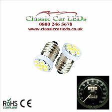 2x WARM WHITE SMITHS GAUGES INSTRUMENT LED BULBS GLB987 E10 CLASSIC VINTAGE CAR
