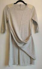 Karen Millen Grey Drape Dress Size 3 UK 10 12 | Sweater Jumper Style Jersey