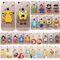 Ultra Thin Cute Cartoon Patterns Clear Soft TPU Case Cover For iPhone 6 5S 5C 4S