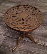 Early antique brass trivet With Table Legs / Stand - Great Planter Or Plinth
