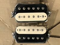 GIBSON BURSTBUCKER 1 2 I II ZEBRA PRO PAF ALNICO II HUMBUCKER SET BRIDGE NECK