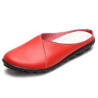 US Size 5-12 Pure Colour Soft Sole Casual round Toe Slip on Flat Shoes