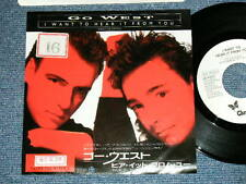 """GO WEST Japan 1987 WHITE LABEL PROMO NM 7""""45 I WANT TO HEAR IT FROM YOU"""