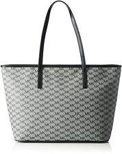 Michael Kors Signature Emry Large Top Zip Tote Carryall Bag Handbag Black Nwt