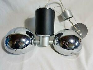 Suspension lampes lustre Deltalight chrome et noir contemporain moderne design