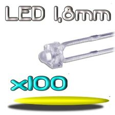 358/100# LED jaune  1,8mm 100pcs --- 2000mcd