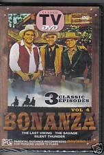 BONANZA VOL. 4 - CLASSIC TV - DVD - 3 CLASSIC EPISODES - NEW