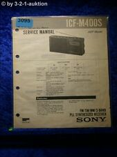 Sony Service Manual ICF M400S PLL Synthesized Receiver (#3095)