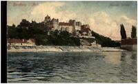 BERNBURG Saale alte color Postkarte 1907 Herzogliches Schloss Saale Partie AK