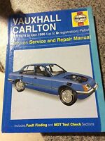 Vauxhall Carlton (1978–1986) Haynes Owners Workshop Manual 0480