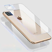 Full Body Front+Rear Lens Tempered Glass Screen Protectors For iPhone 11 Pro Max